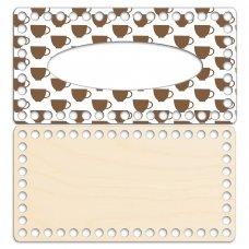 Салфетница 12 х 23 см. Кофе брейк