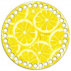 Донышко Круг 15 см. Лимоны