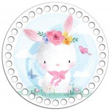 Донышко Донышко Круг 15 см.  Розовый кролик