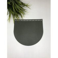 Крышка для сумки из экокожи Болотный 20 см на 18 см