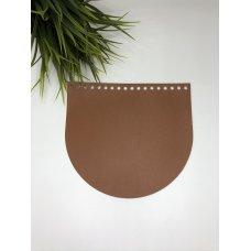 Крышка для сумки из экокожи Коньяк 20 см на 18 см