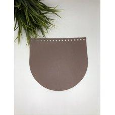 Крышка для сумки из экокожи Пыльная роза 20 см на 18 см