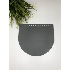 Крышка для сумки из экокожи Серый 20 см на 18 см