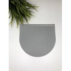 Крышка для сумки из экокожи Светло-серый 20 см на 18 см