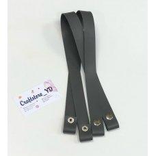 Ручки на кнопках из Экокожи 60 см цвет Серый (1 пара)