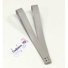 Ручки для шоппера из Экокожи 60 см Светло-серый (1 пара)