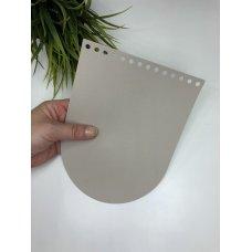 Крышка для сумки из экокожи Тауп 16 см на 21 см