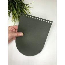 Крышка для сумки из экокожи Болотный 16 см на 21 см