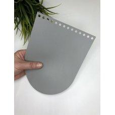 Крышка для сумки из экокожи Светло-серый 16 см на 21 см