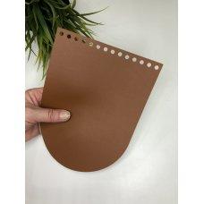 Крышка для сумки из экокожи Коньяк 16 см на 21 см