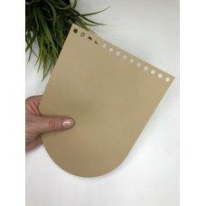 Крышка для сумки из экокожи Крем-брюлле 16 см на 21 см