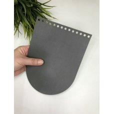 Крышка для сумки из экокожи Серый 16 см на 21 см