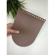 Крышка для сумки из экокожи Пыльная роза 16 см на 21см