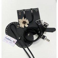 Набор для рюкзака из Экокожи Черный