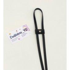 Ремешок-утяжка для сумок из Экокожи Черный