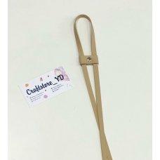 Ремешок-утяжка для сумок из Экокожи Крем-брюле