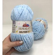 Плюшевая пряжа Himalaya Dolphin Baby цвет Нежно-голубой 80306