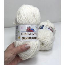 Плюшевая пряжа Himalaya Dolphin Baby цвет Молочный 80308