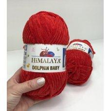Плюшевая пряжа Himalaya Dolphin Baby цвет Ярко-красный 80318