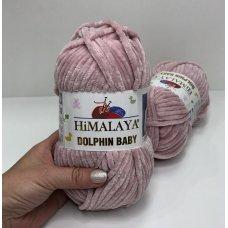 Плюшевая пряжа Himalaya Dolphin Baby цвет Розовая пудра 80349