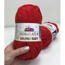 Плюшевая пряжа Himalaya Dolphin Baby цвет Темно-Красный 80352