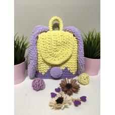 Вязаный рюкзак детский Зайка 43238