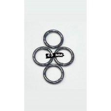 Кольца-карабины черный никель для сумки диаметр 25 мм