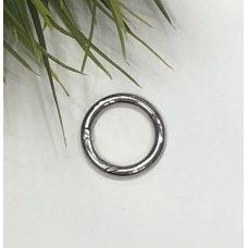 Кольца-карабины серебро для сумки диаметр 25 мм