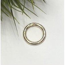 Кольца-карабины золотом для сумки диаметр 25 мм