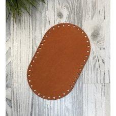 Донышко оранжевый для сумки из кожи 22см на 13,5см