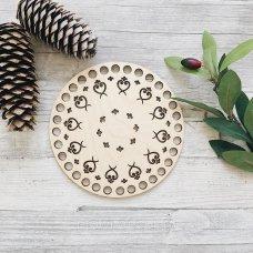 Деревянное донышко крышка для корзин Тарелка 15см