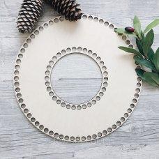 Деревянное донышко для корзинки, кольцо 30см
