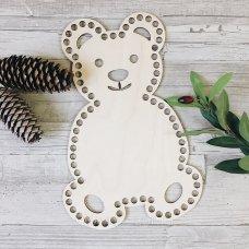 Деревянное донышко для корзин в форме Мишки