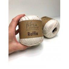 Рафия для вязания Fibra Natura Молочный 116-15