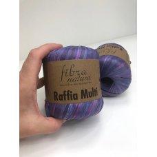 Рафия для вязания Fibra Natura Мульти фиолетовый 117-06