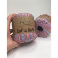 Рафия для вязания Fibra Natura Мульти розовый 117-10