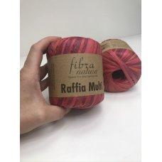 Рафия для вязания Fibra Natura Мульти красный 117-02