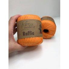 Рафия для вязания Fibra Natura Рыжий 116-19