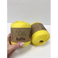 Рафия для вязания Fibra Natura Желтый 116-18