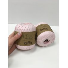 Рафия для вязания Fibra Natura Нежно-розовый 116-17