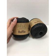 Рафия для вязания Fibra Natura Черный 116-12