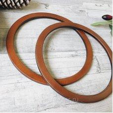 Деревянные ручки для сумок, кольца узкие, 146мм цвет орех