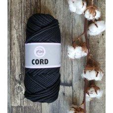 Шнур для вязания хлопковый Черный