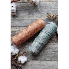 Шнур для вязания полиэфирный Серо-Зеленый